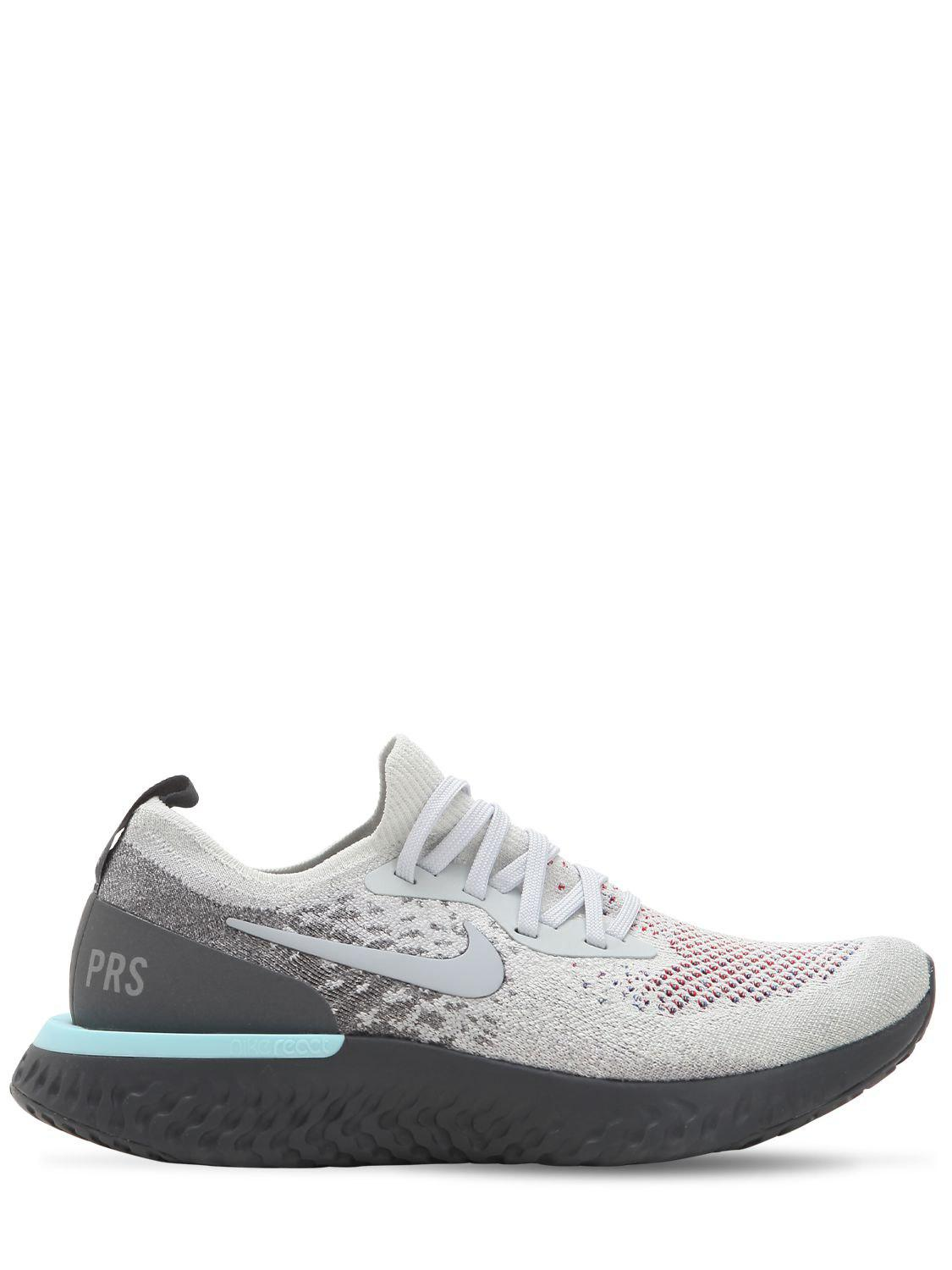 957bc99d339f Lyst - Nike Epic React Flyknit Sneakers in Gray for Men