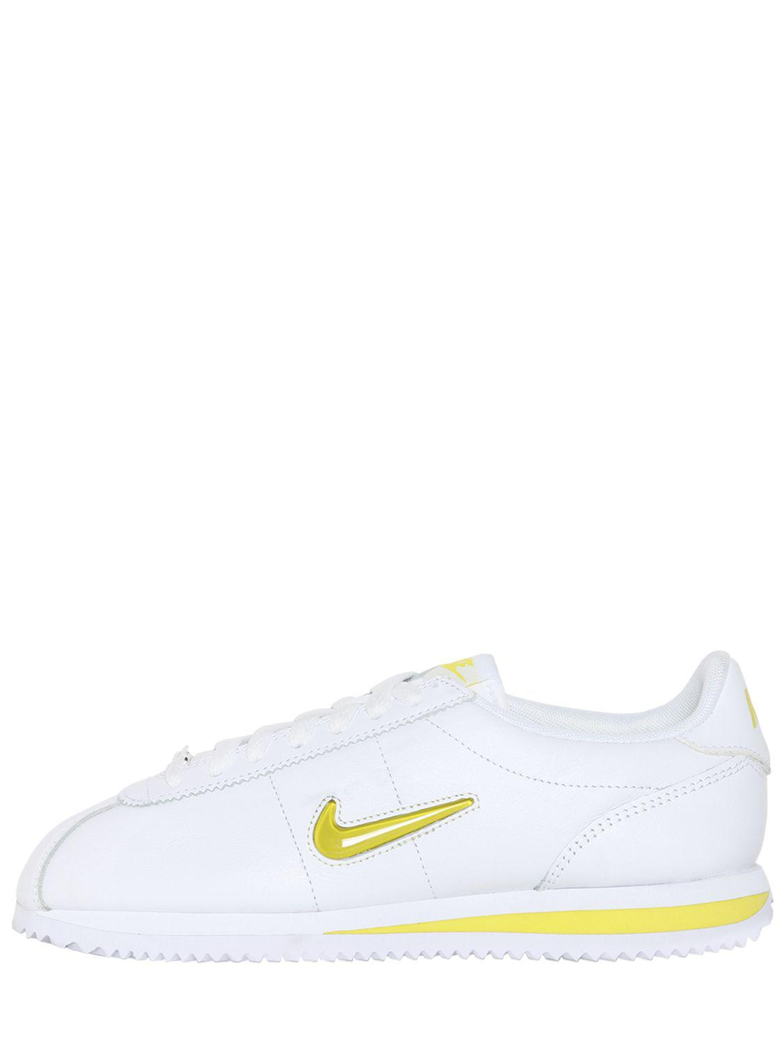 detailed look 4345c 9f970 Nike. Women s White Cortez Basic Jewel 18 Trainers