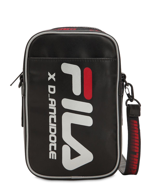 Lyst - D-ANTIDOTE Fila Logo Mini Crossbody Bag in Black for Men 8a43f71969408