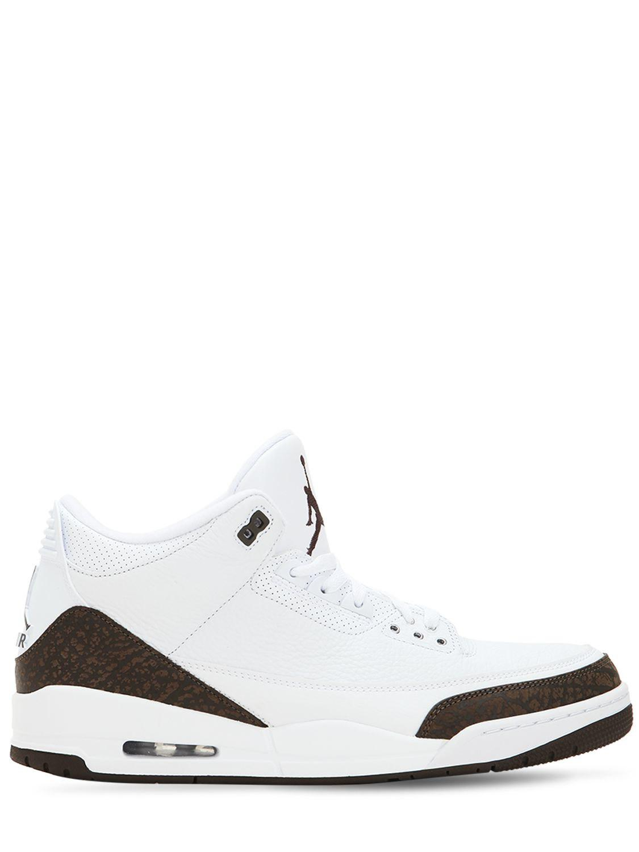 watch 0625a 02c26 Nike. Men s White Air Jordan 3 Mocha Retro Nrg Sneakers
