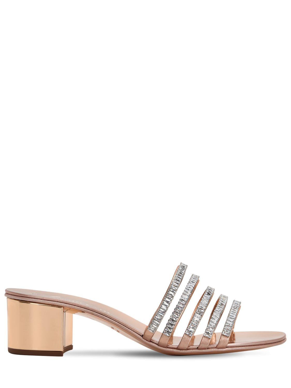 ea1840864bb Giuseppe Zanotti. Women s 40mm Crystal   Patent Leather Sandals