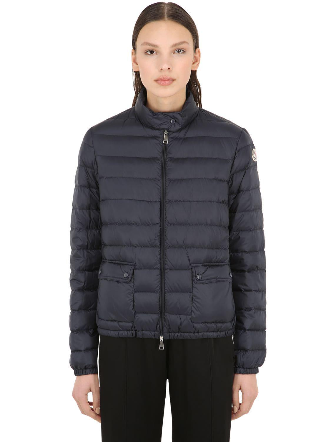 dbd3b1d811ee Moncler Lans Longue Saison Nylon Down Jacket in Blue - Lyst