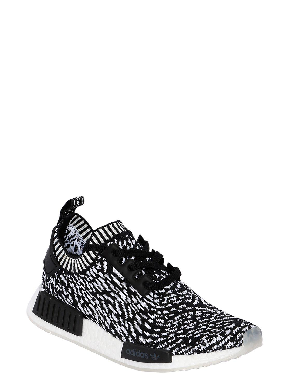 acdb97775a7 adidas Originals Nmd R1 Primeknit Sneakers in Black for Men - Lyst