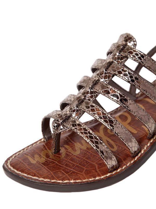 9f4917bdc994 Sam Edelman 10mm Garland Embossed Sandals in Brown - Lyst