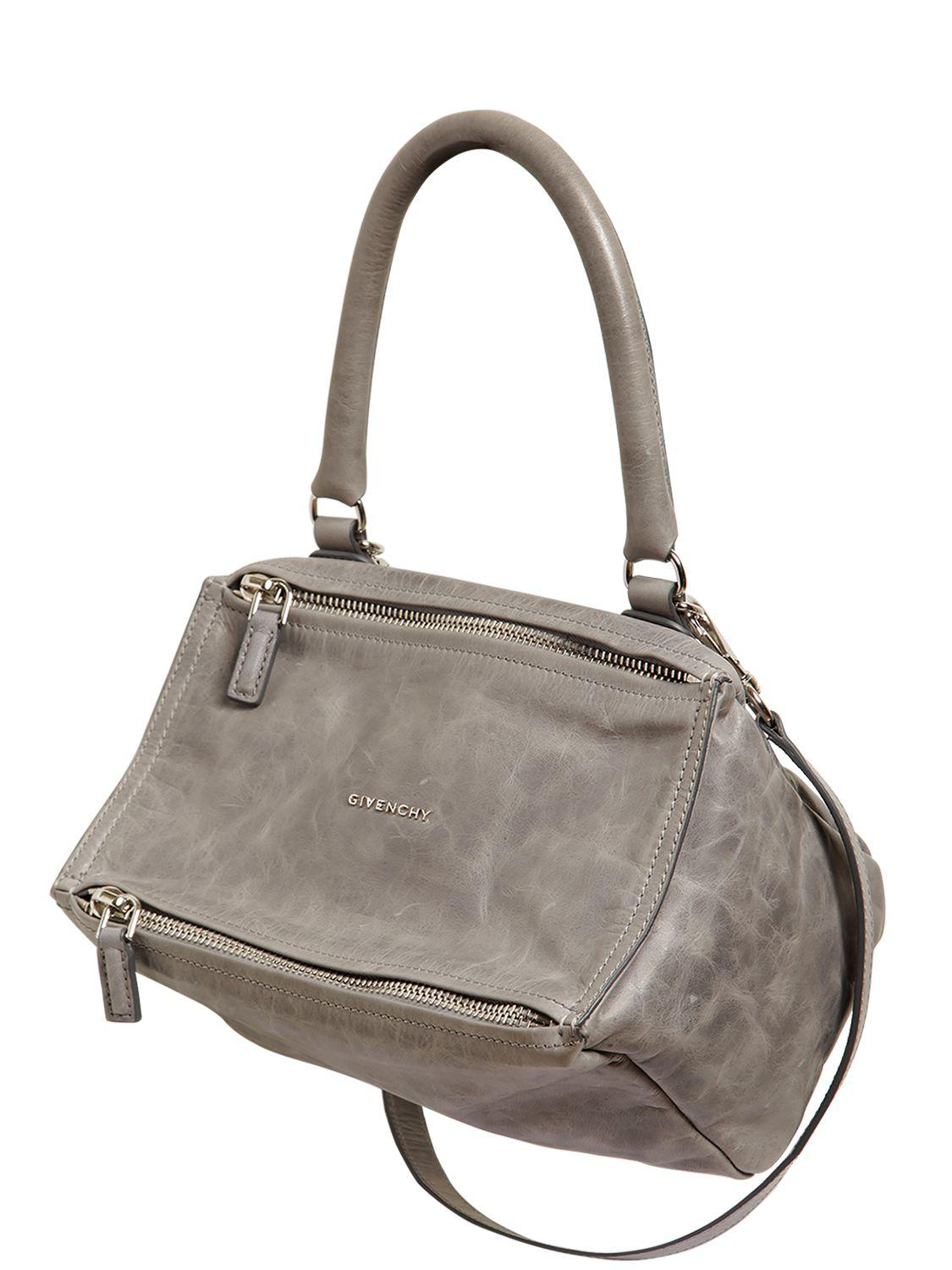 Givenchy - Gray Small Pandora Washed Leather Bag - Lyst. View fullscreen 11398aa4eae04