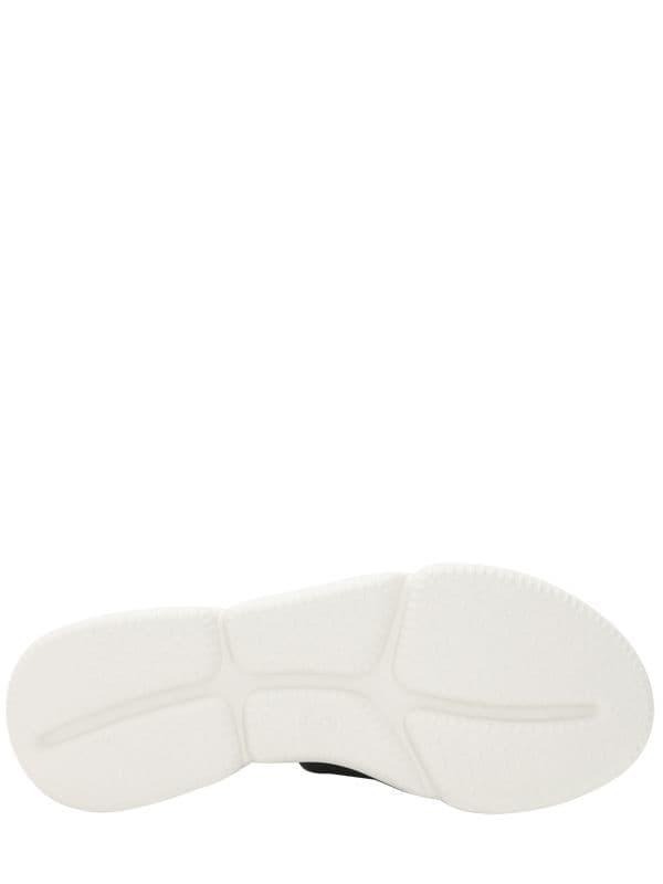 f640d7e41f93 Moncler - Black Zaira Leather   Rubber Platform Sandals - Lyst. View  fullscreen