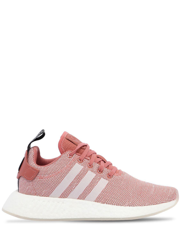Lyst adidas originali nmd r2 primeknit scarpe rosa