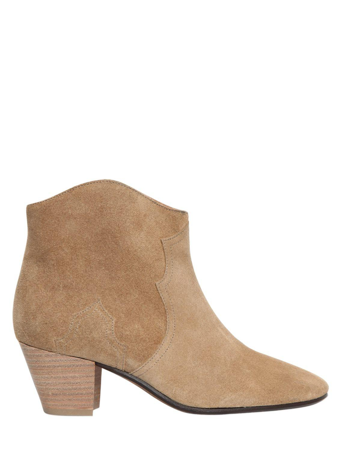 Isabel Marant 50MM DICKER SUEDE BOOTS Discounts For Sale 0fCPovI