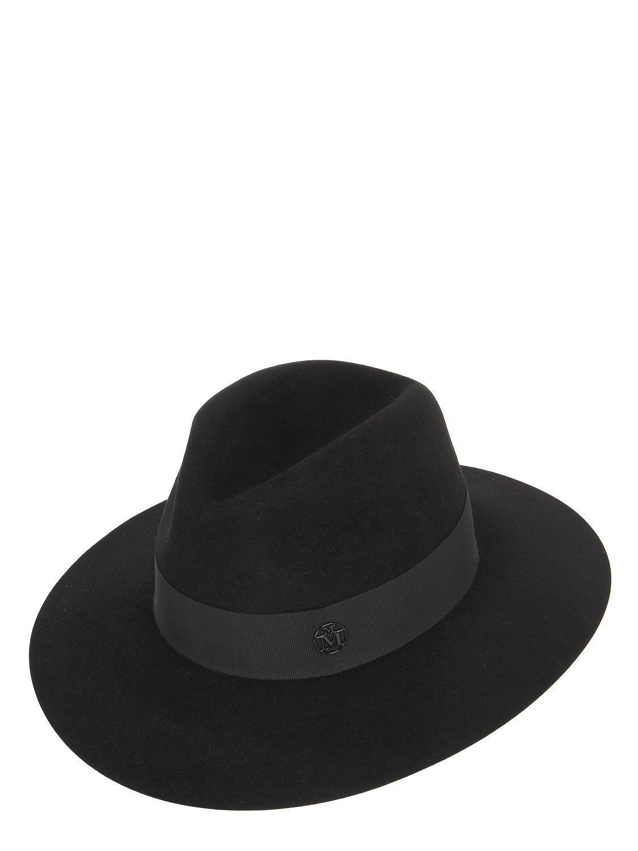 Lyst - Maison Michel Henrietta Rabbit Fur Felt Hat in Black for Men 74e55b272c3b