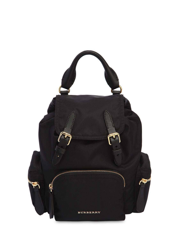 Lyst - Burberry Small Rucksack Nylon Backpack in Black ce2008144fb8b
