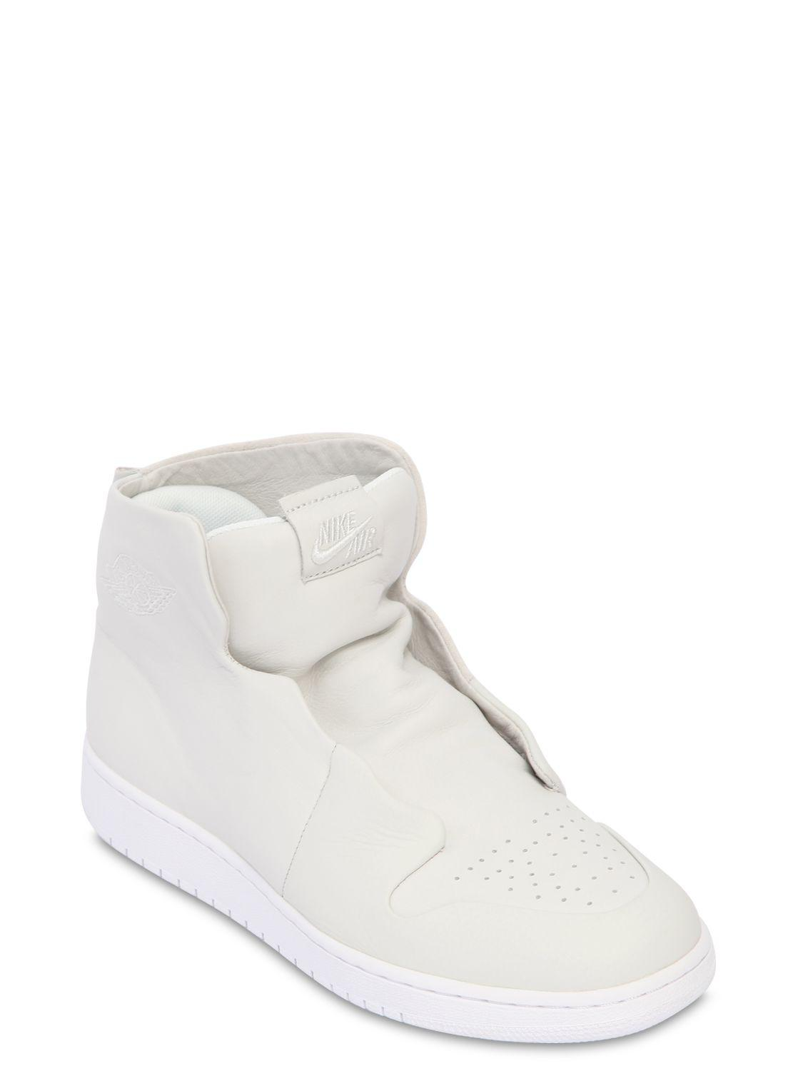 39a2514fc7e7 Nike Air Jordan 1 Sage Xx Mid Top Sneakers in White - Save 52% - Lyst