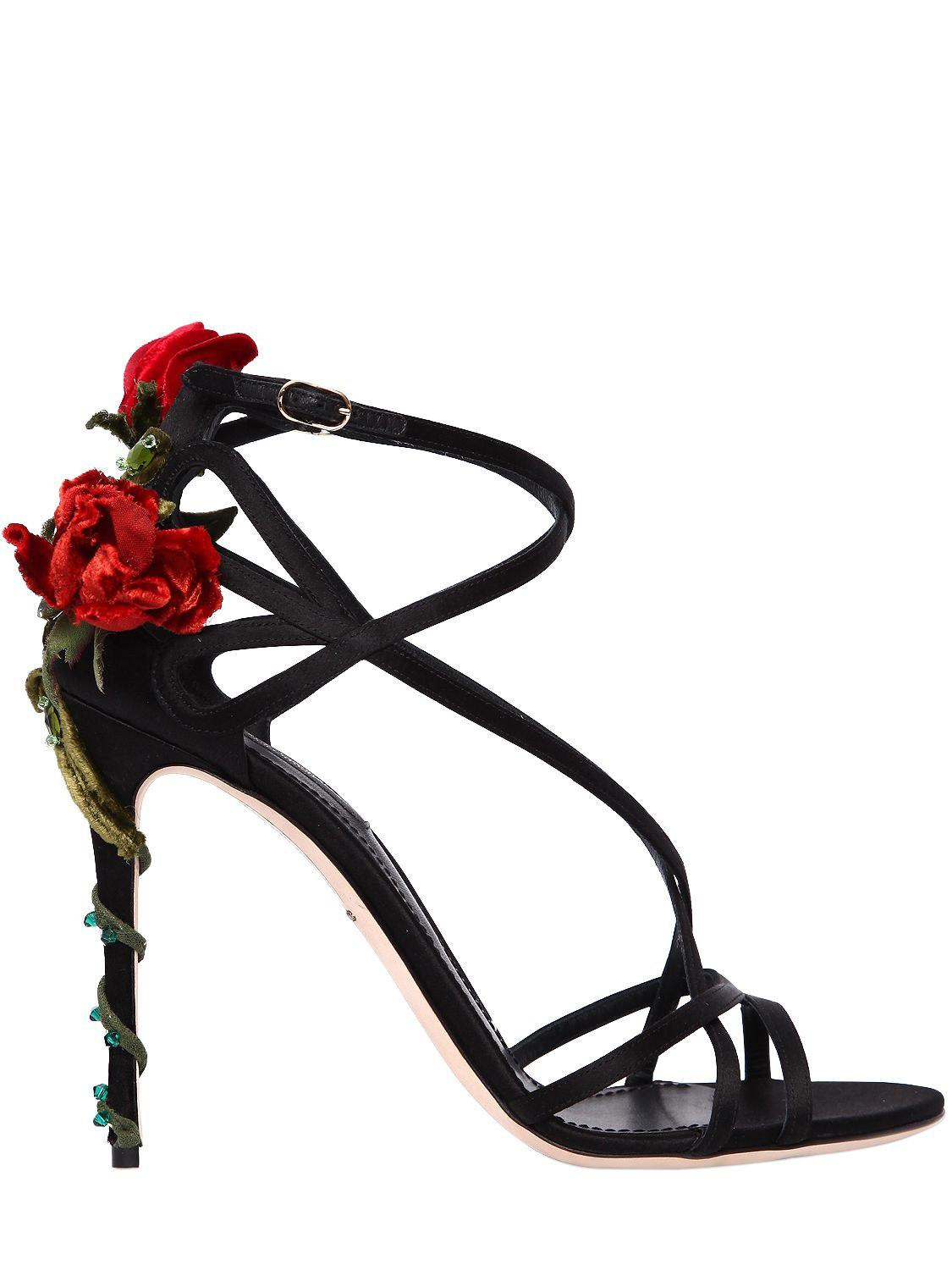 Dolce & Gabbana 105MM KEIRA ROSE SATIN SANDALS LS9ADxQM