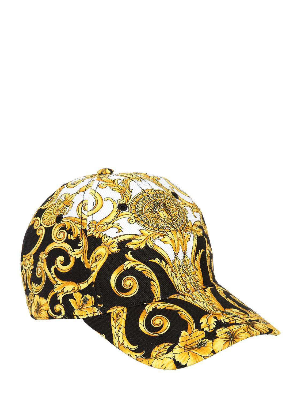 bb9bfa11193 Versace Baroque Print Cotton Baseball Cap for Men - Lyst