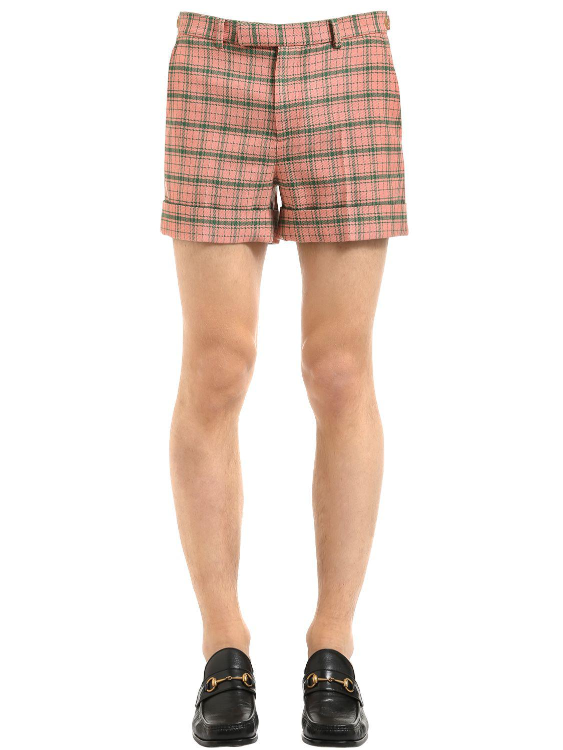 Checked tweed shorts Gucci BJl4Trv