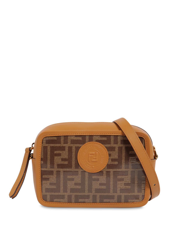 Lyst - Fendi Logo Printed Canvas   Leather Camera Bag in Brown 052e8820b1125