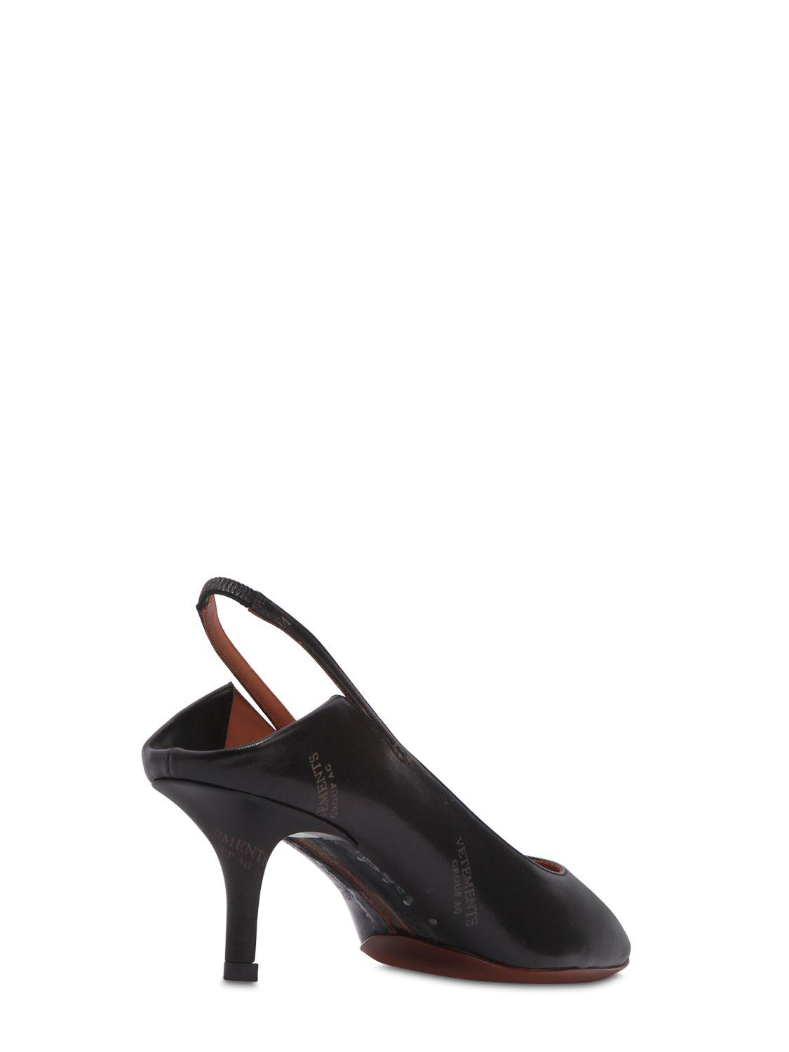 Vetements 60MM PRINTED SLINGBACK LEATHER PUMPS yzbcyq