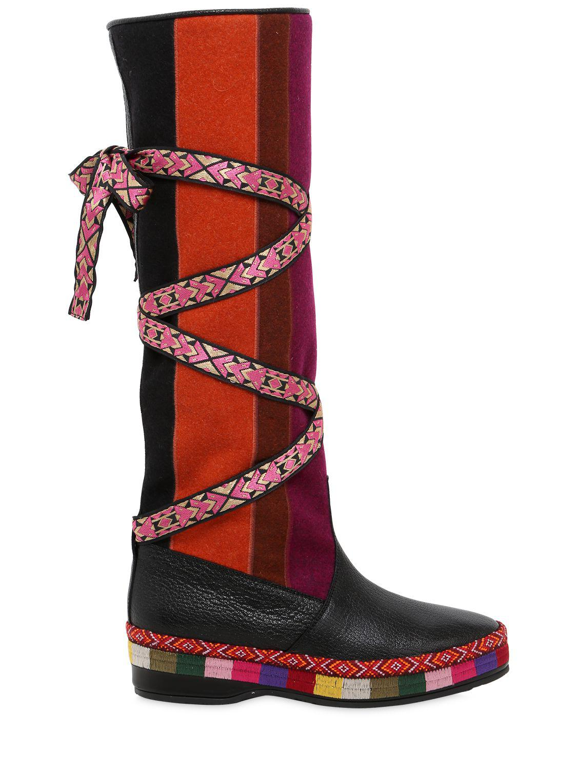 Etro20MM SUEDE & WOOL BOOTS IfCYNg6