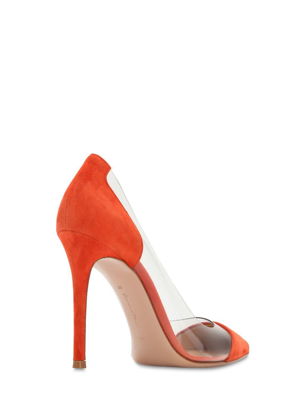 0e9d463f8393 Gianvito Rossi - Orange 105mm Plexi   Suede Pumps - Lyst. View fullscreen