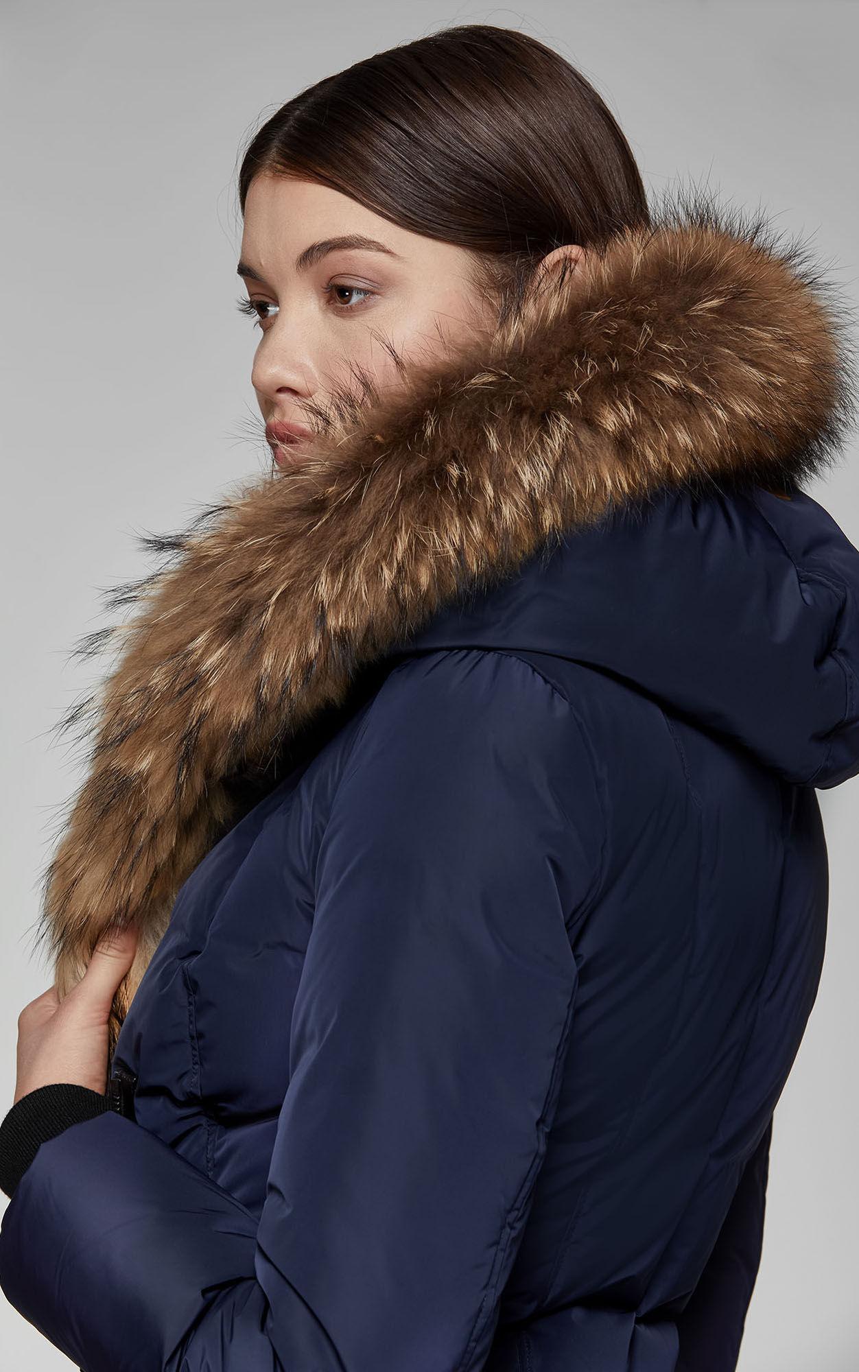b2cf7cd378d0 ... Adali Fitted Winter Down Coat With Hood And Fur Trim Szl160 Ink -. View  fullscreen