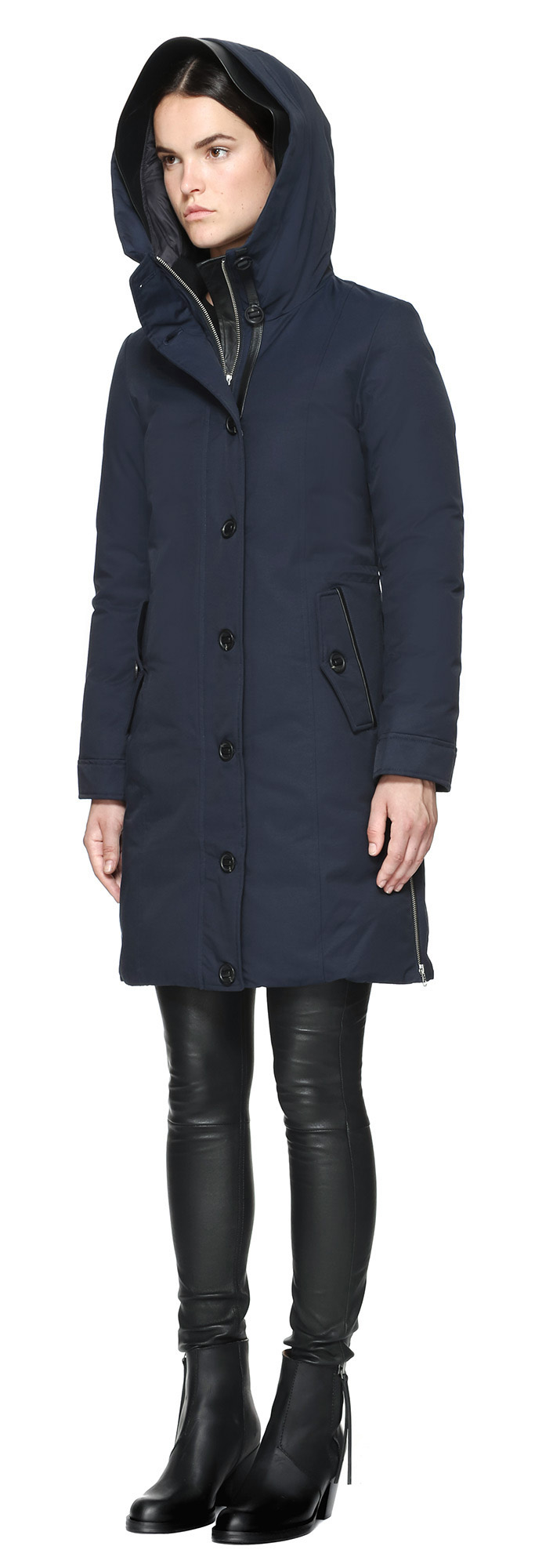 Mackage Nimah Knee Length Parka Style Winter Down Coat In