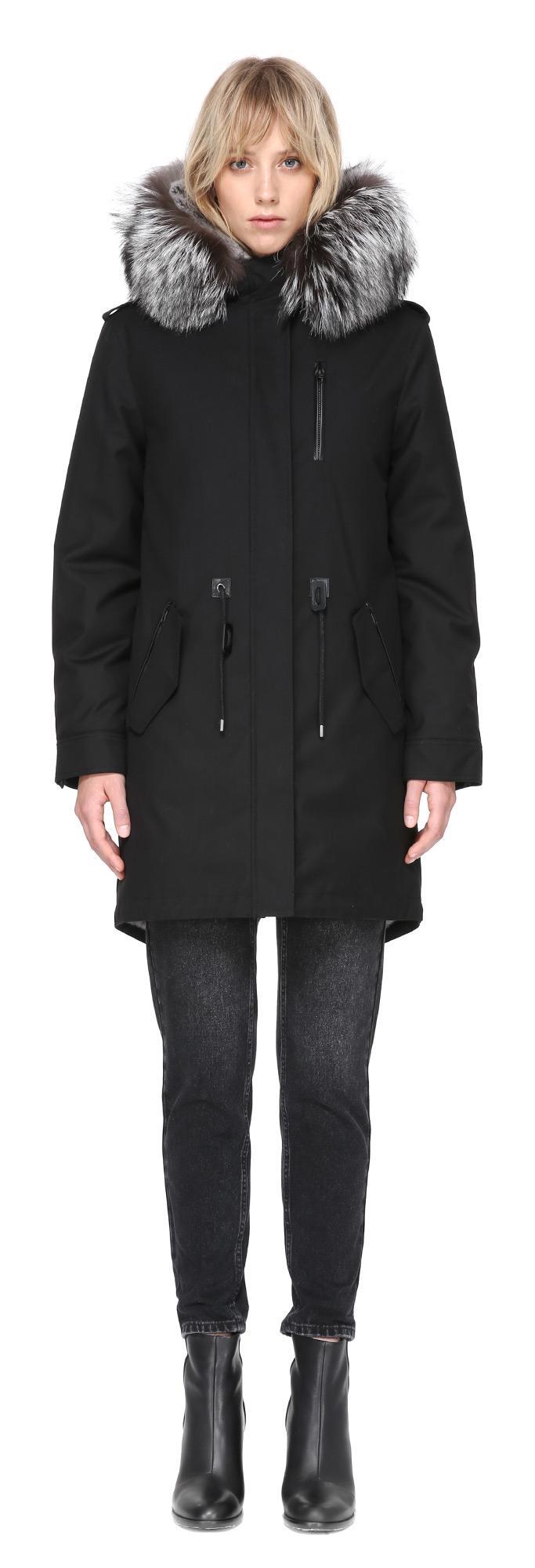 Lyst Mackage Rena X Fur Lined Twill Parka In Black In Black