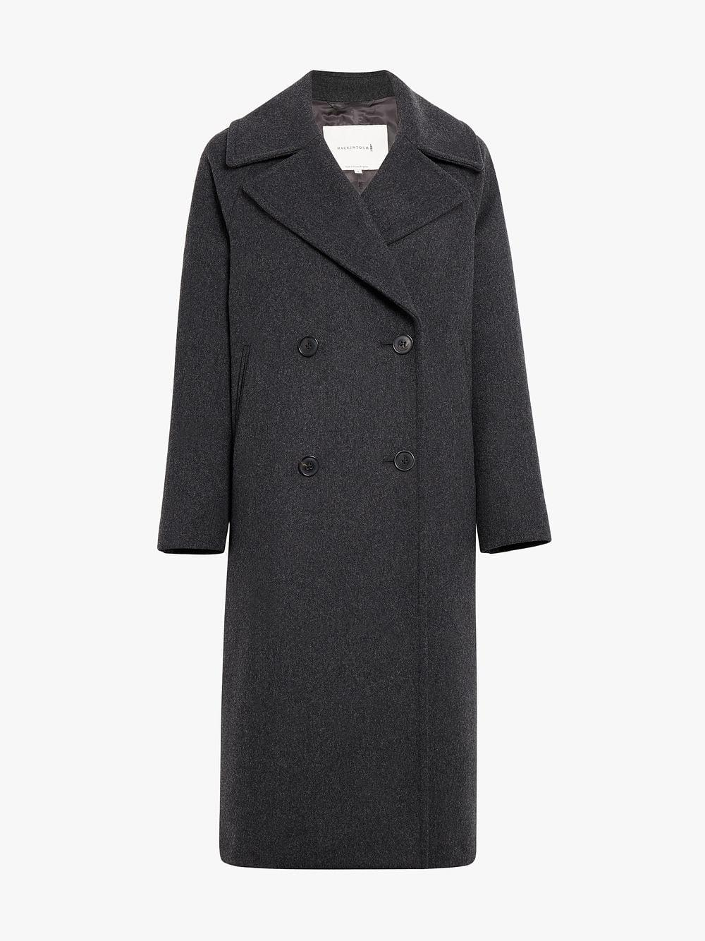 9c8639996 Mackintosh Charcoal Double Breasted Coat in Gray - Lyst