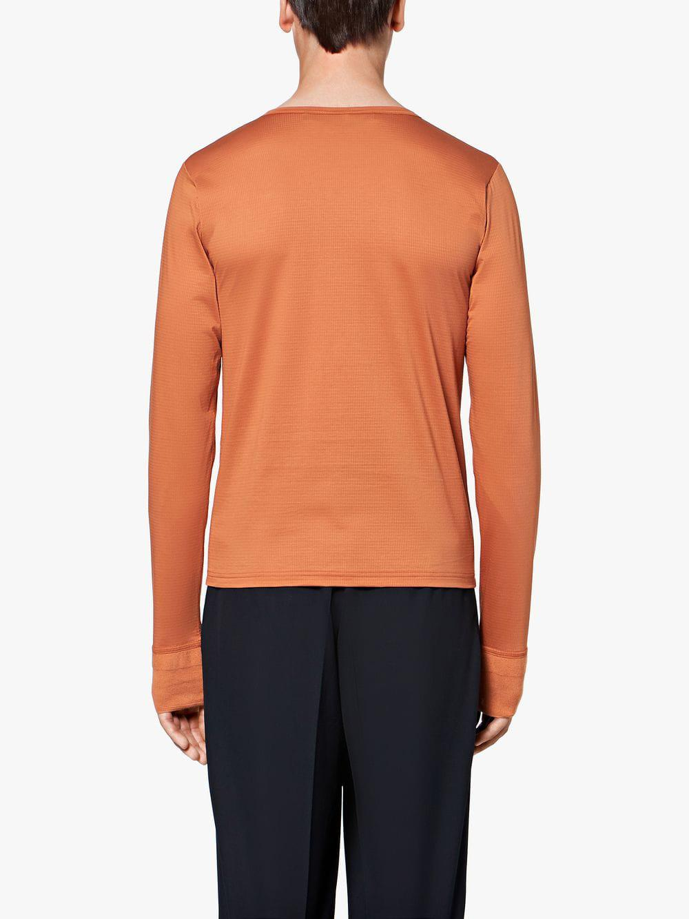 83b91ea04d5 Lyst - Mackintosh 0003 Amber Cotton 0003 Henley Shirt in Orange for Men