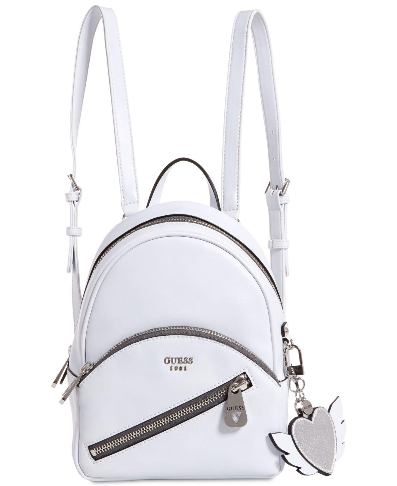 1f2541e187 Lyst - Guess Bradyn Small Backpack in White