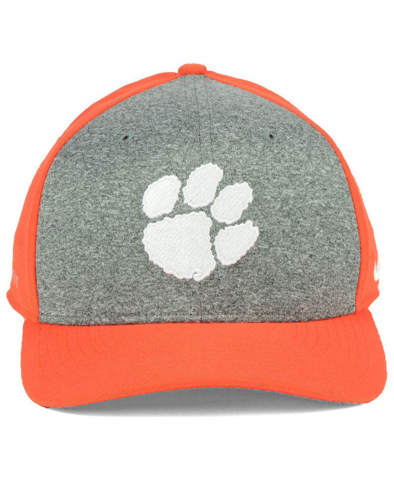 premium selection a9c77 e1306 ... just do it swooshflex cap 75245 67166  best price lyst nike clemson  tigers legend swooshflex cap for men 61575 3145e