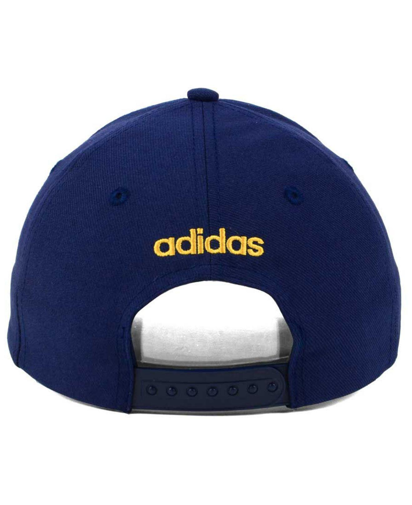 store lyst adidas core basic adjustable snapback cap in blue for men 71099  21f39 0782bb2ed4f2
