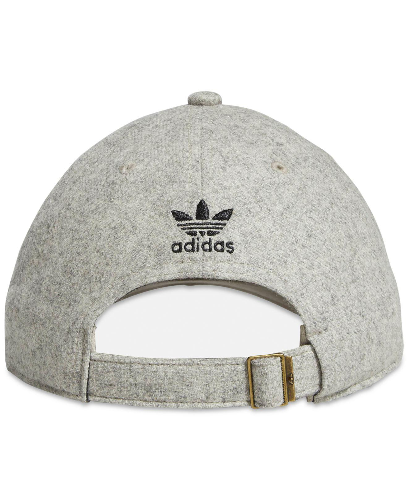15ef7522 Lyst - adidas Originals Relaxed Treifoil Hat in Gray for Men