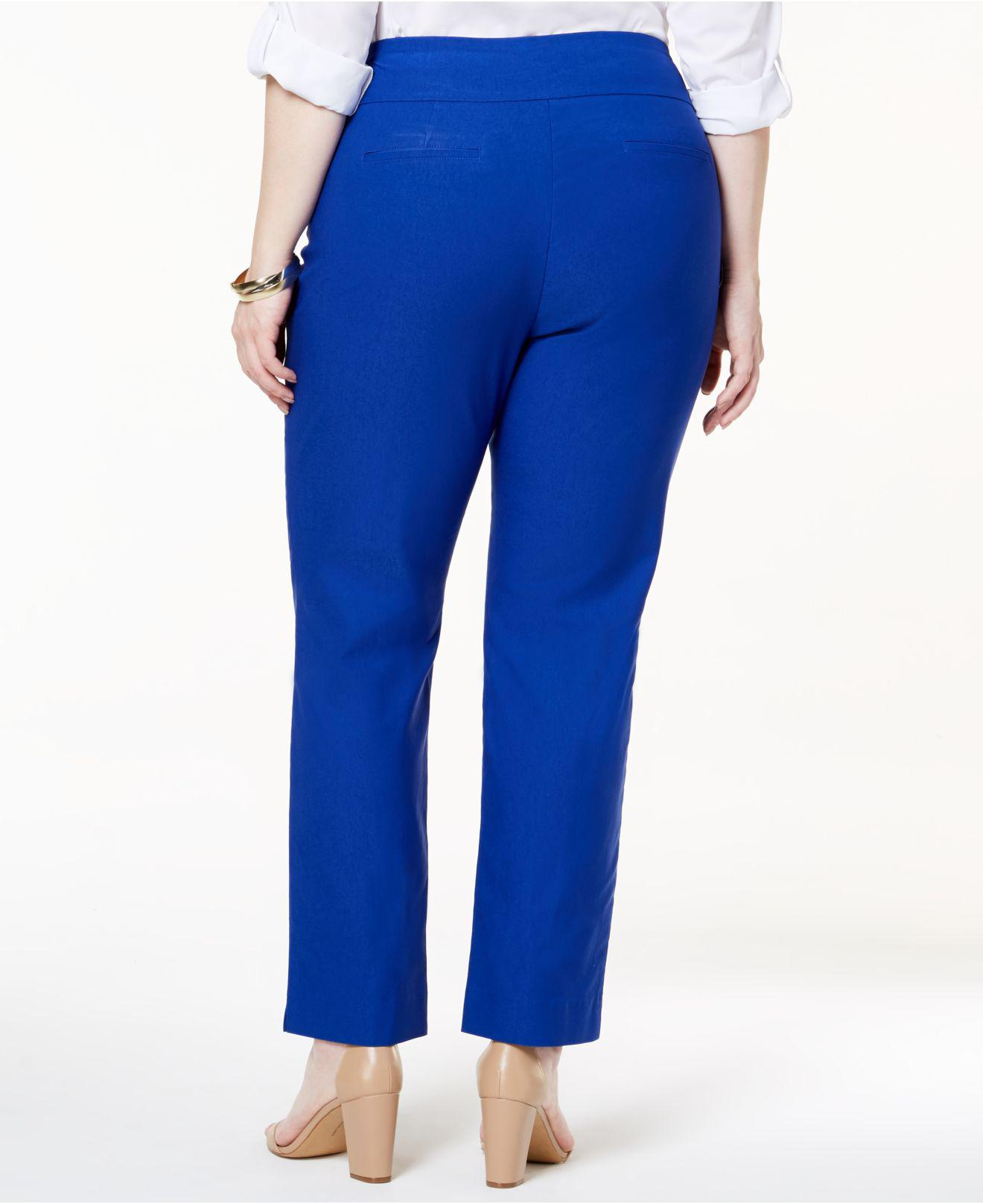 137768b5e5814 Lyst - Charter Club Plus Size Cambridge Tummy-control Pull-on Pants ...