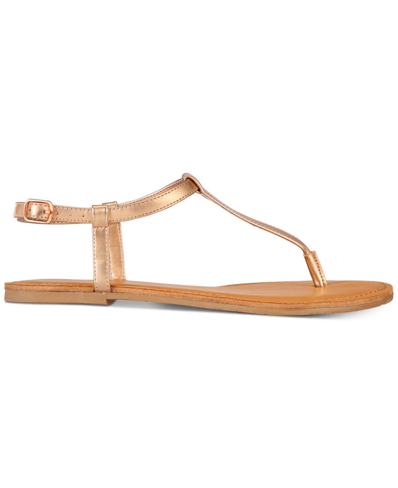 314d96c88246 Lyst - American Rag Krista T-strap Flat Sandals