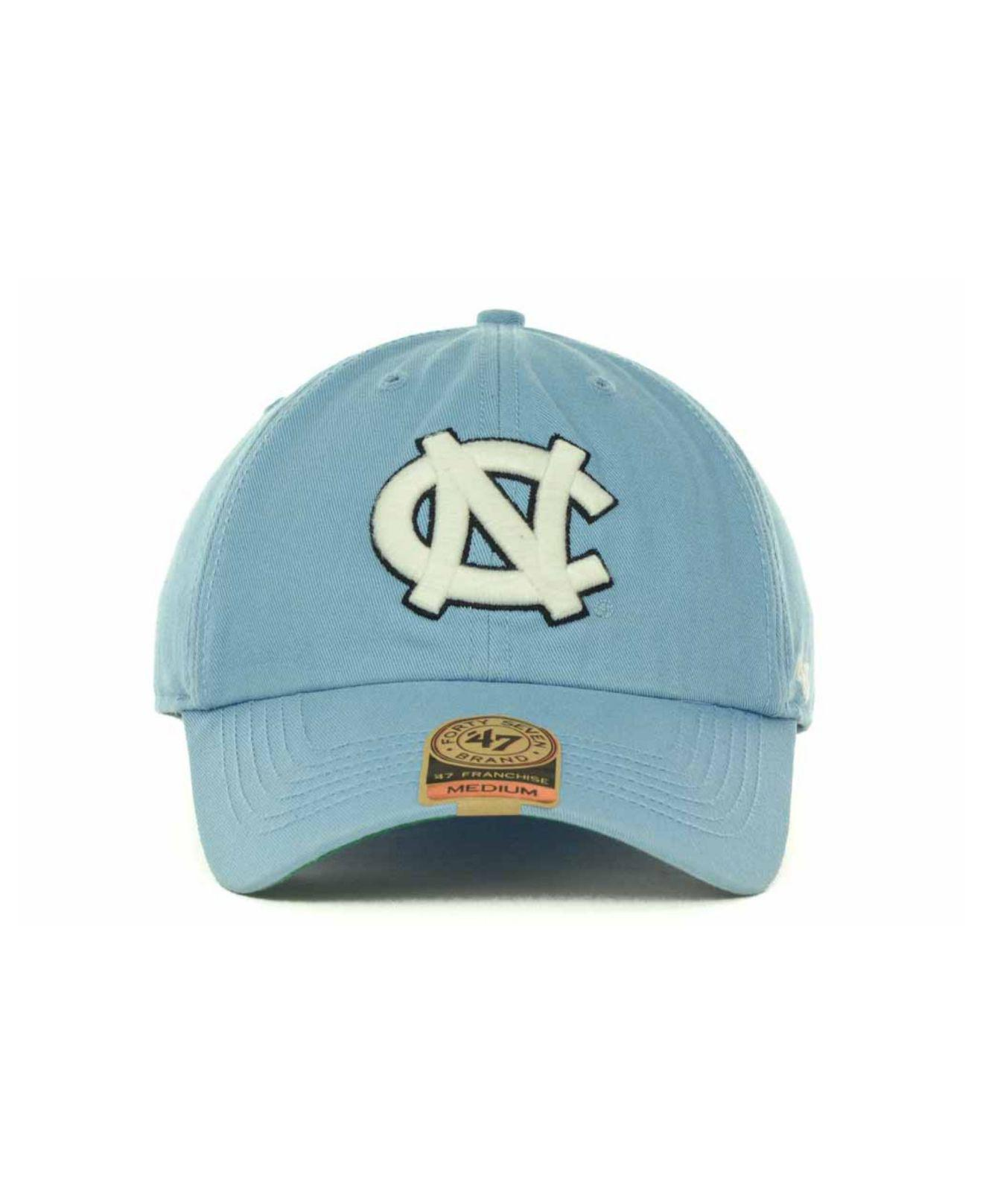 new product 9b134 ee0f4 ... official store lyst 47 brand north carolina tar heels franchise cap in  blue for men b9c3e