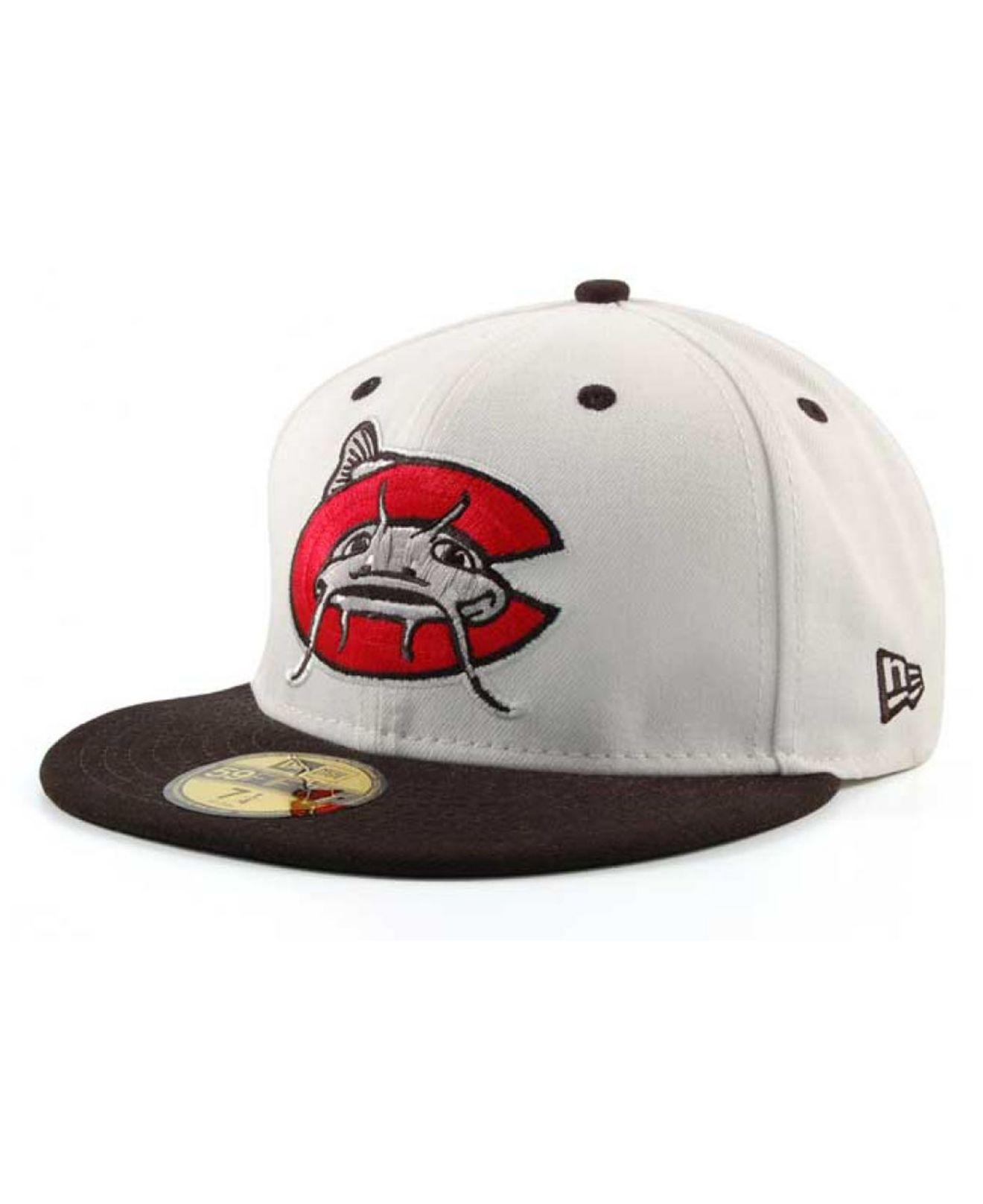 online retailer aef9a c7dc4 KTZ - White Carolina Mudcats Ac 59fifty Fitted Cap for Men - Lyst. View  fullscreen