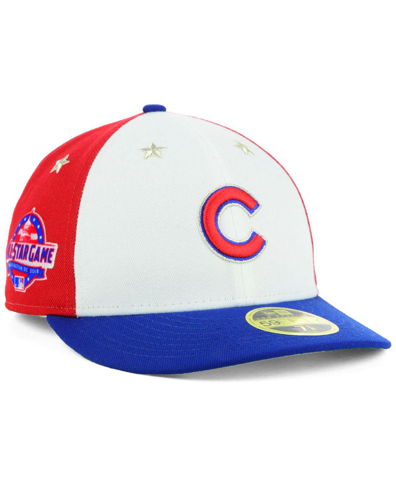 0c827d4c527 KTZ. Men s Chicago Cubs All Star Game Patch Low Profile 59fifty Fitted Cap  2018
