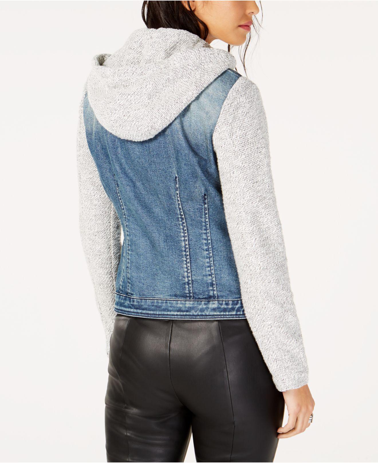 ed684f02a92ac Lyst - INC International Concepts I.n.c. Denim Slub Knit Sleeve Jacket