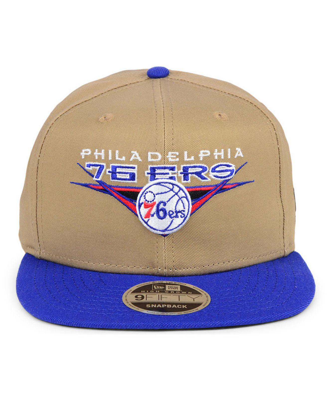 online store d3c9c be824 Lyst - KTZ Philadelphia 76ers Jack Knife 9fifty Snapback Cap in Blue for Men
