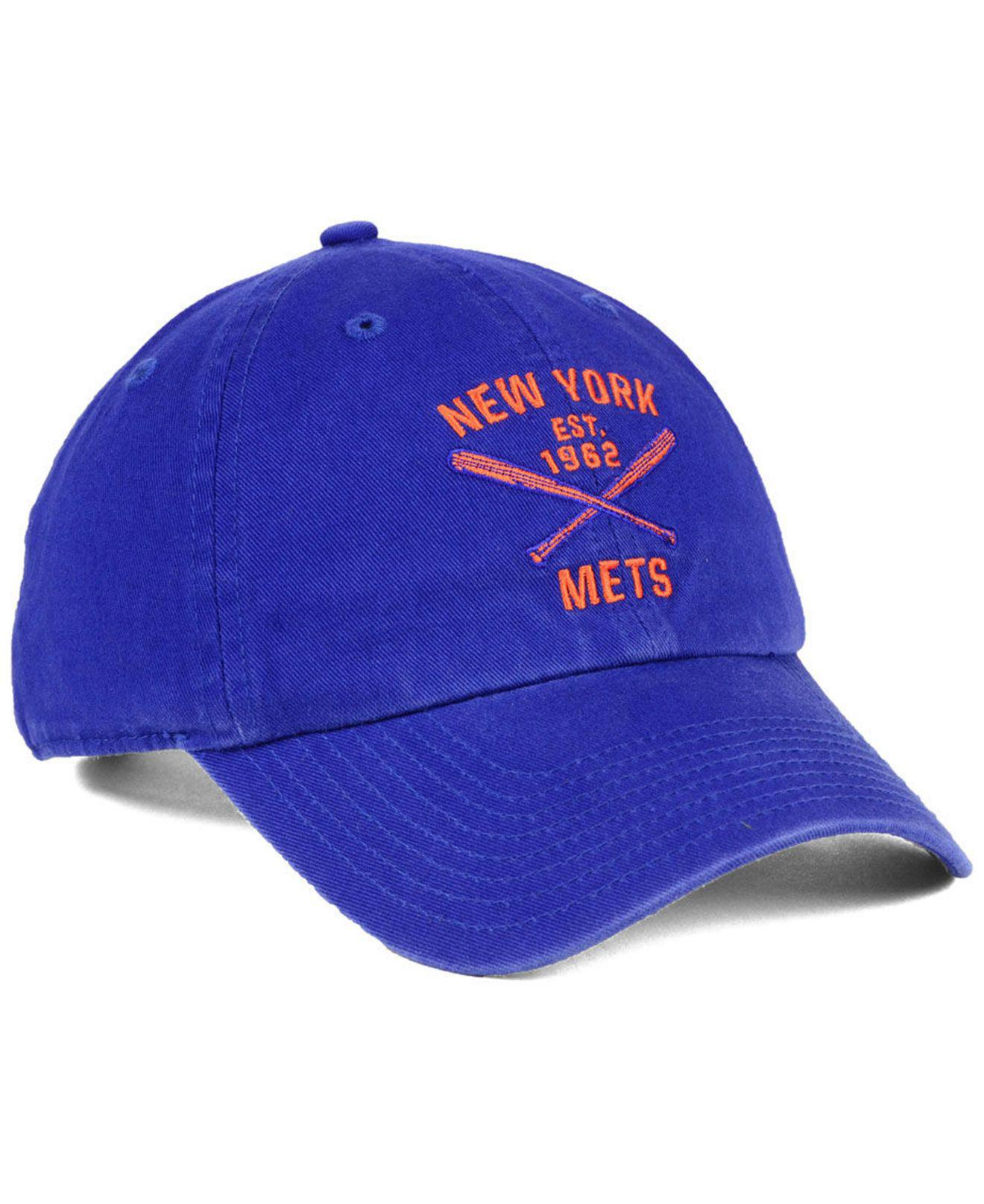 big sale 6173a 984df ... where to buy lyst 47 brand new york mets axis clean up cap in blue for