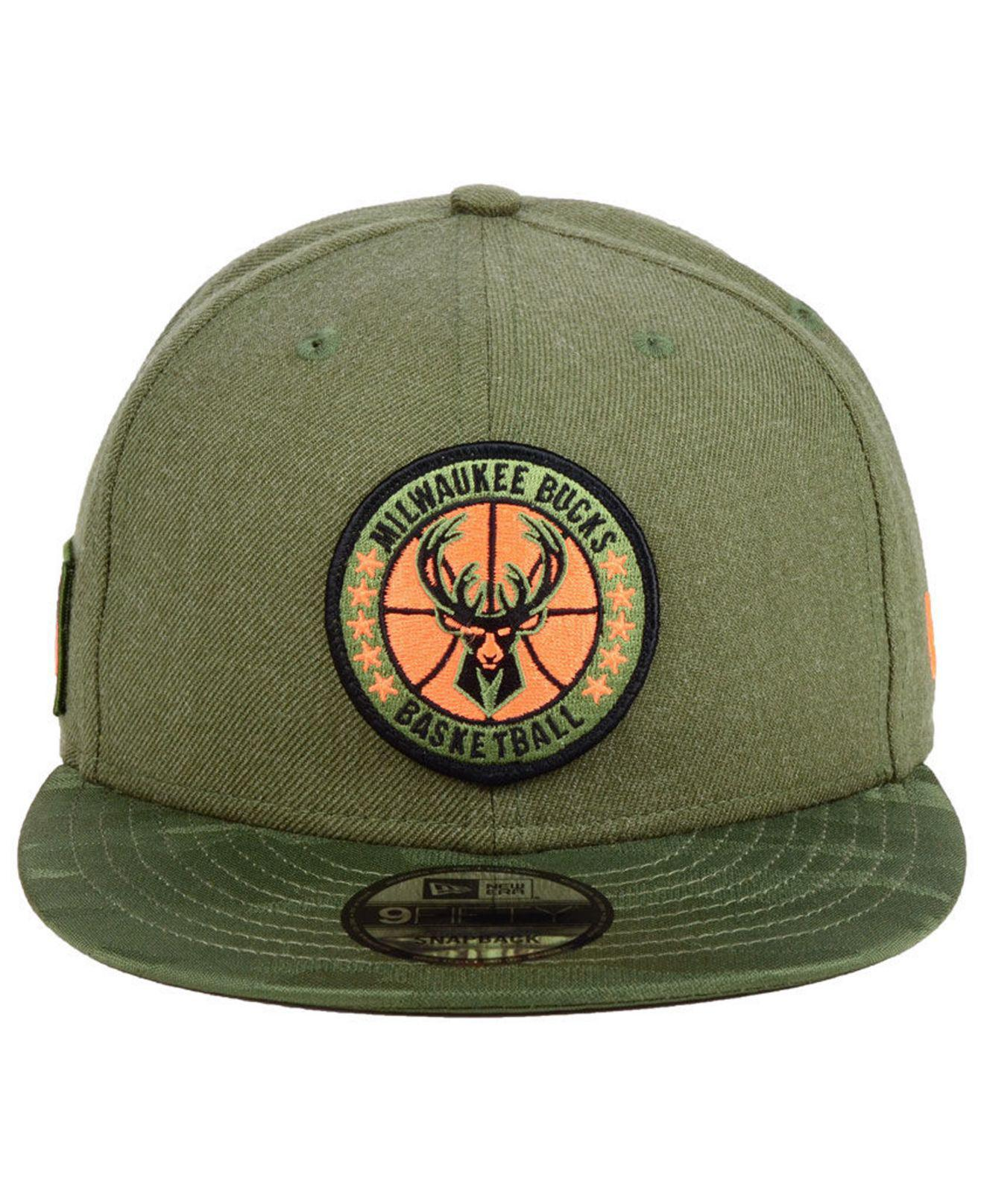 half off 37052 be8e5 ... real lyst ktz milwaukee bucks tip off 9fifty snapback cap in green for  men 7e850 0fa34