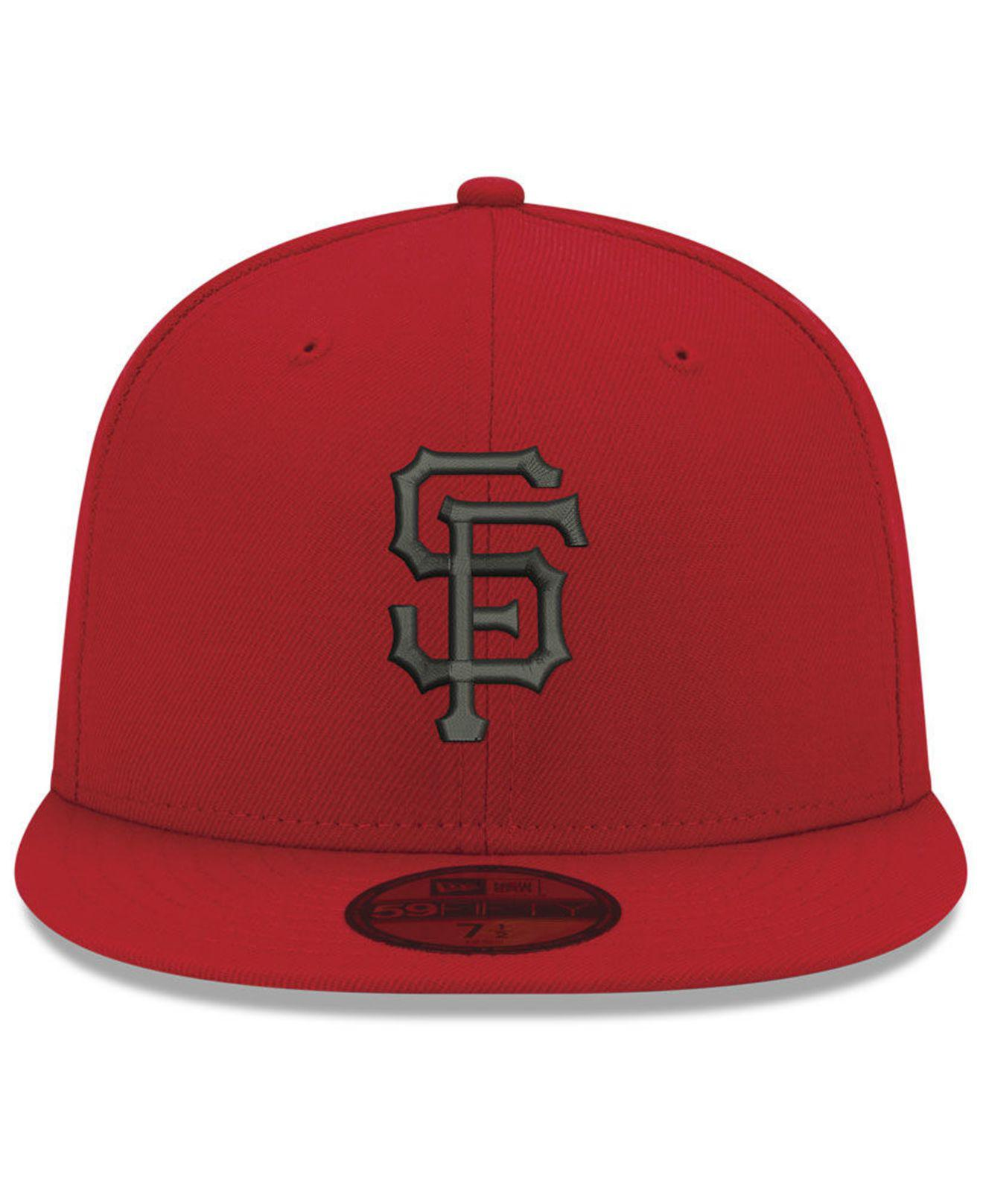 Lyst - KTZ San Francisco Giants Reverse C-dub 59fifty Fitted Cap in Red for  Men 156e9210d