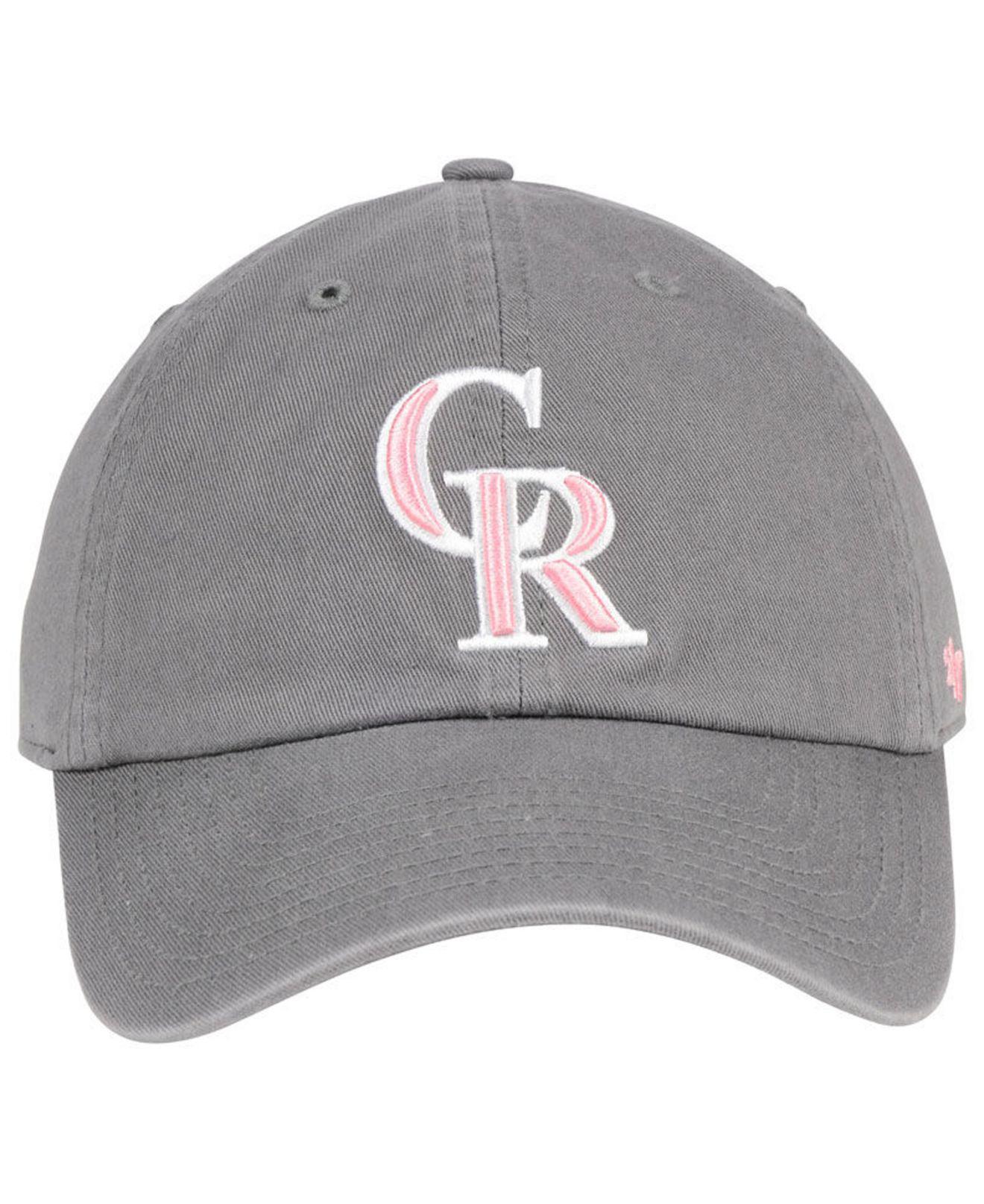 newest 3e180 65c0e ... closeout lyst 47 brand colorado rockies dark gray pink clean up cap in  gray 53738 eb8f3