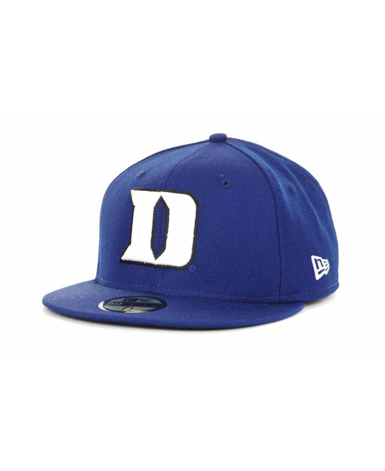 best website 658ff c5bd8 KTZ Duke Blue Devils Ac Stock 59fifty Cap in Blue for Men - Lyst