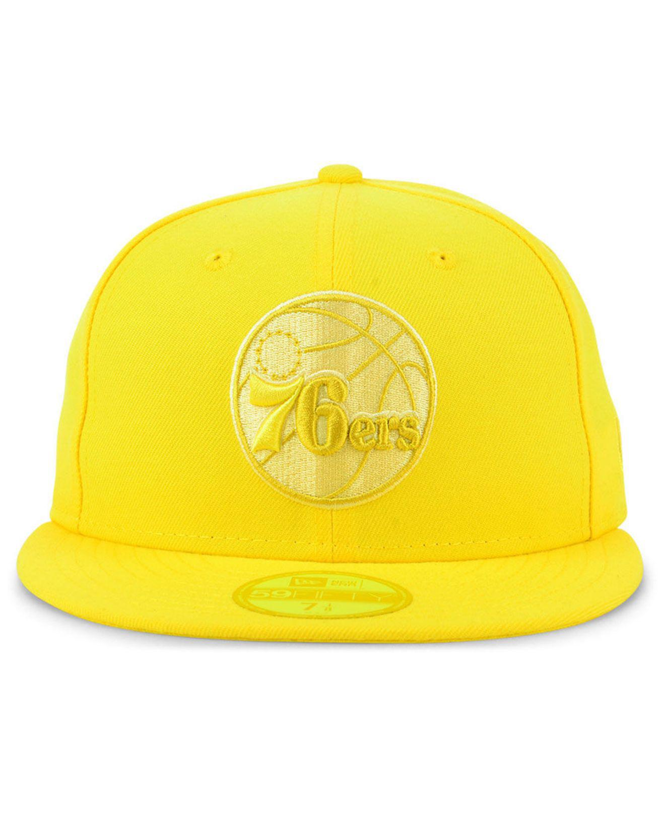 quality design 992da 123dd ... coupon for lyst ktz philadelphia 76ers color prism pack 59fifty fitted  cap in yellow for men ...
