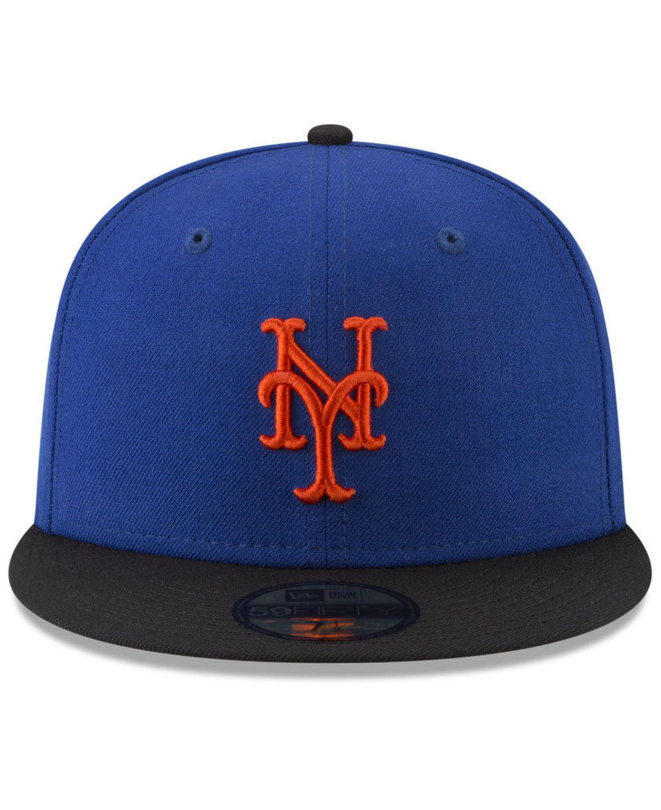 3f383a5b937 Lyst - KTZ New York Mets Batting Practice Wool Flip 59fifty Fitted Cap in  Blue for Men