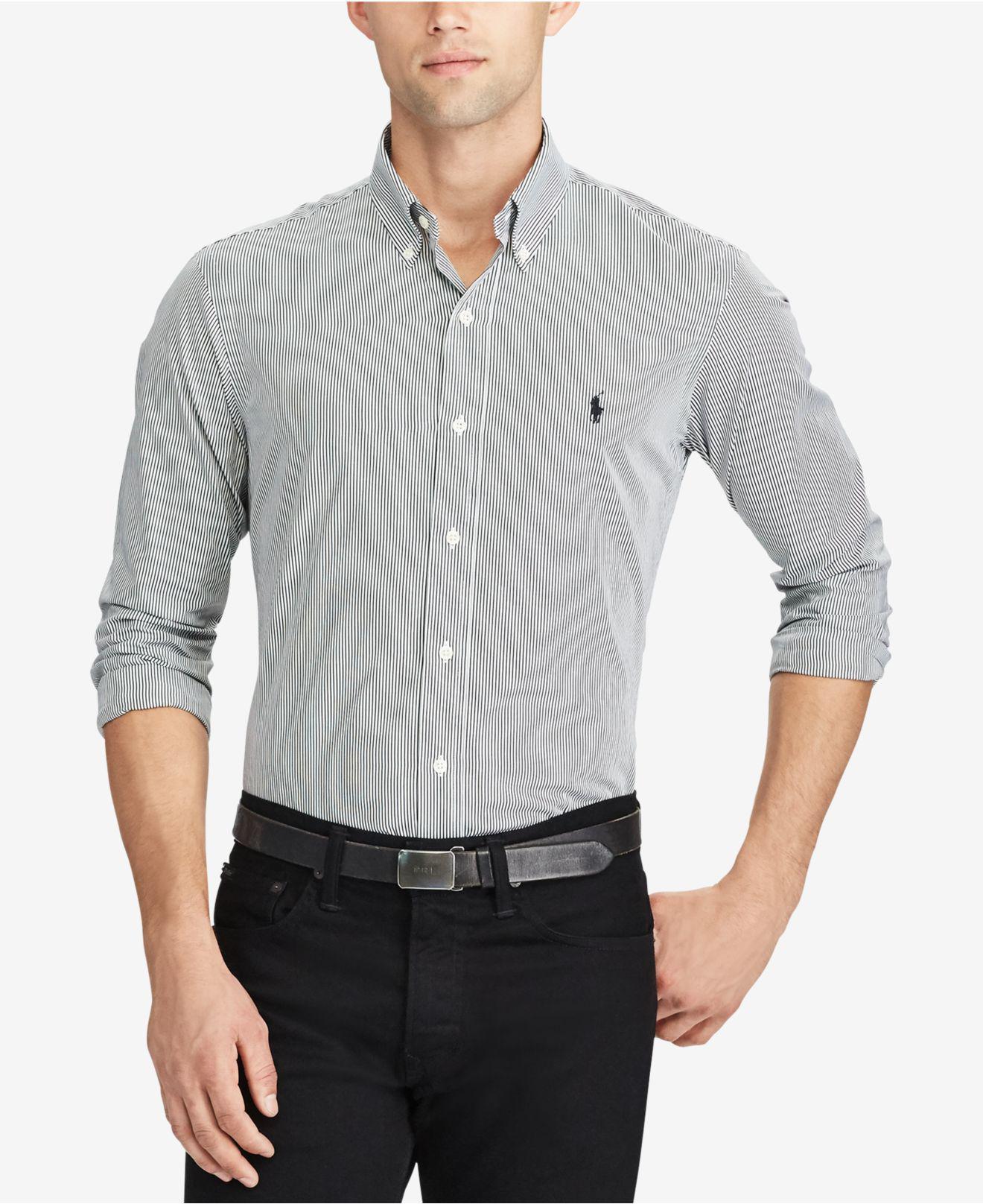 fae37ece2bb Polo Ralph Lauren Black And White Striped Dress Shirt - Gomes Weine AG