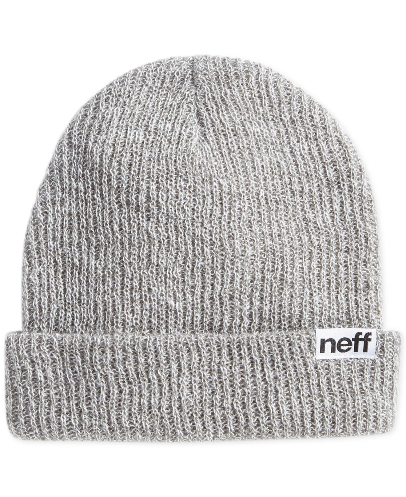 5910c49624f22 Lyst - Neff Daily Foldover Heathered Beanie in Gray