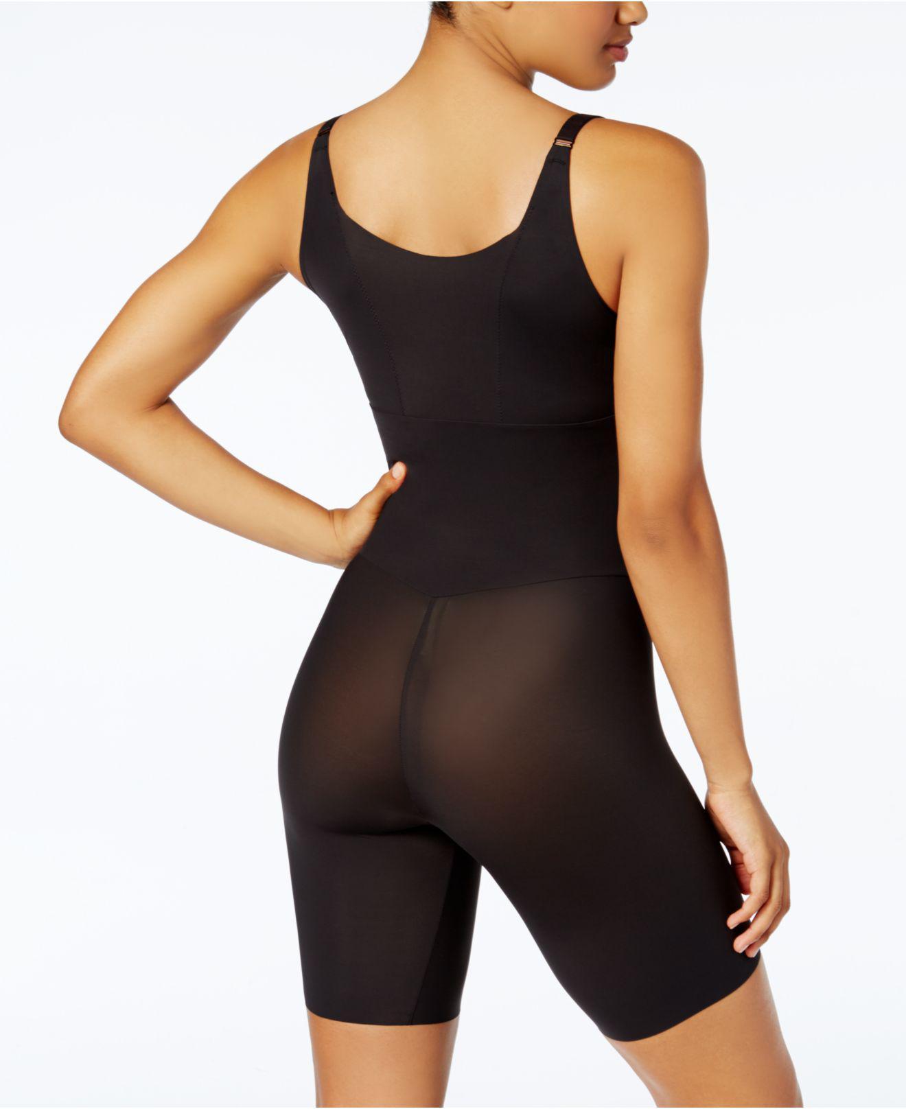 61f05fe4c8 Maidenform Firm Tummy-control Instant Slimmer Long Leg Open Bust Body Shaper  2556 in Black - Lyst