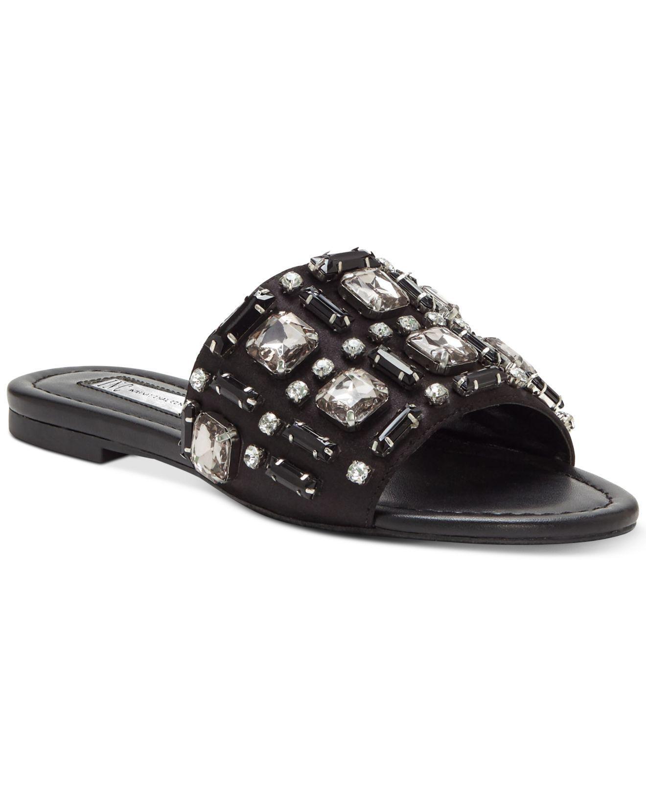 51856bc91d7be5 Lyst - INC International Concepts Gerra Slide-on Sandals in Black