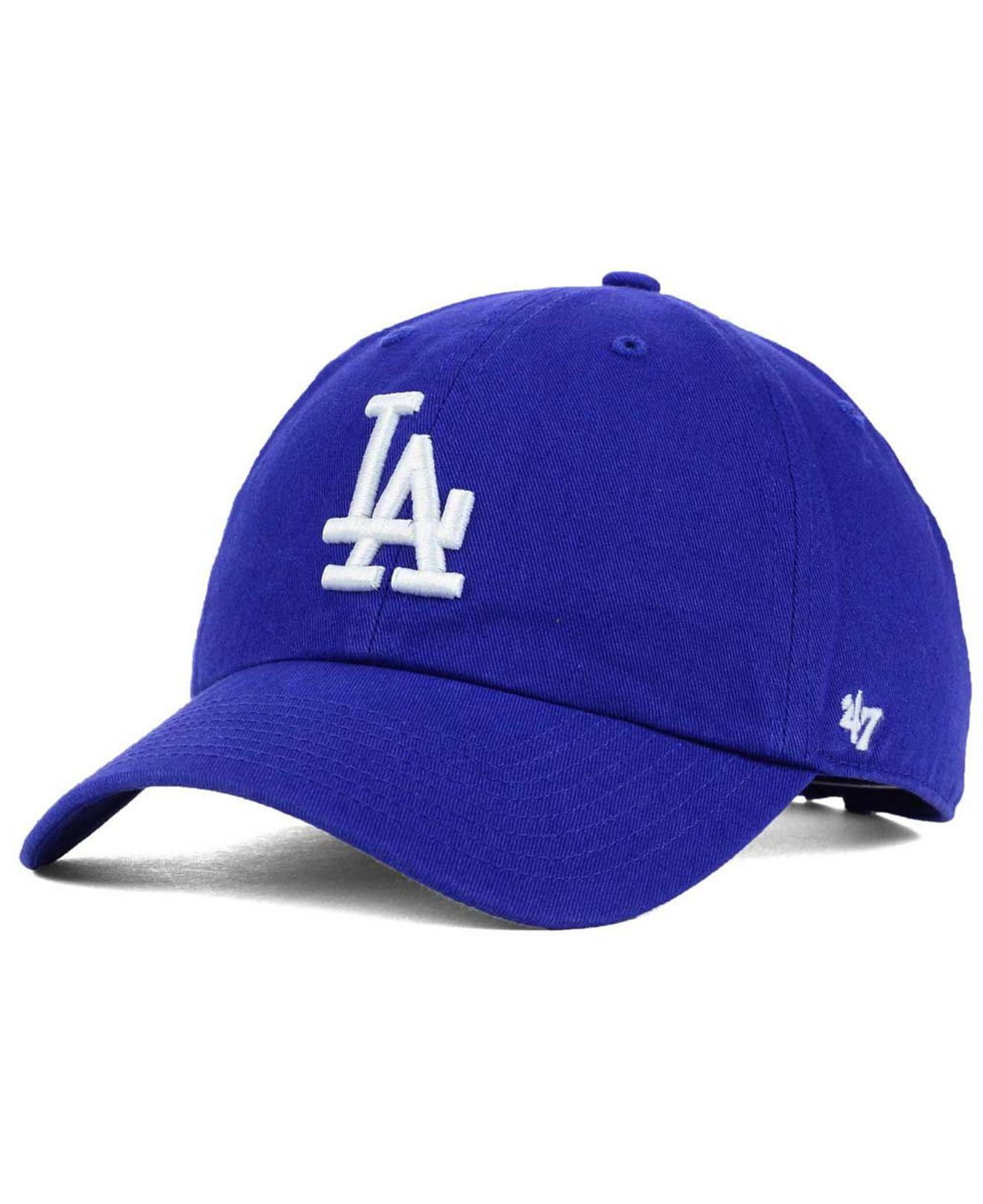 hot sales cac65 3426f 47 Brand. Men s Blue Los Angeles Dodgers On-field Replica Clean Up  Strapback Cap